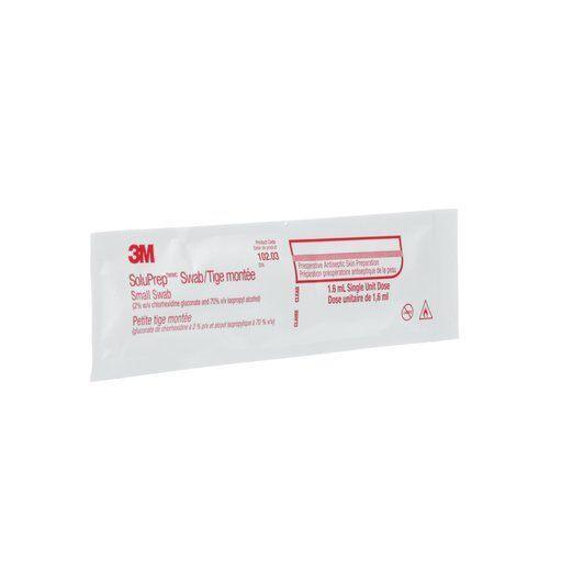 3M™ SoluPrep™ Swab, (2% w/v chlorhexidine gluconate and 70% v/v isopropyl alcohol), Clear (4447579046001)
