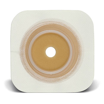 Natura® Durahesive®: Flat Flexible Skin Barrier with Cut-to-Fit Opening, Acrylic tape collar, tan, Extended Wear, 10/bx (4572246540401)