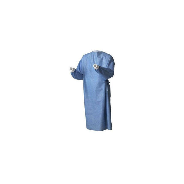 LOW STOCK - SmartSleev Surgical Gowns, Set-in Sleeve, Poly reinforced, Sterile AAMI Level 4 20/Box (4447582847089)