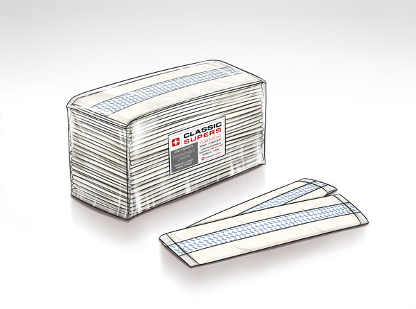 Classic Supers With Adhesive Strip. Non-Sterile - 200 per case.