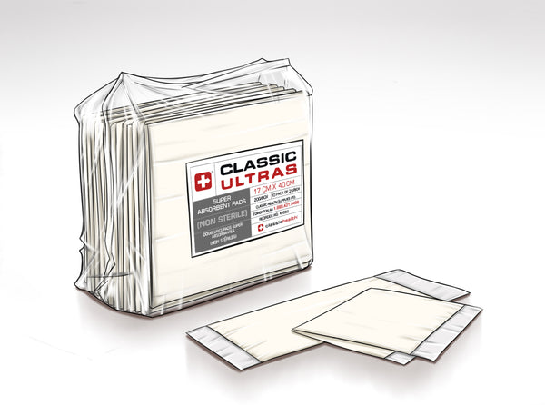 Classic Ultra - Non-Sterile. 20/pkg, 10pkg/case.  Sold by the case.