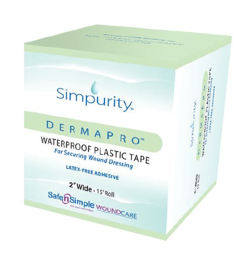 "DermaPro Waterproof Plastic Tape, 2""x15'"