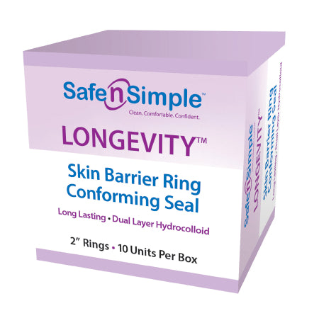 "LONGEVITY Skin Barrier Conforming Seal, 2"" Rings, 10/bx"