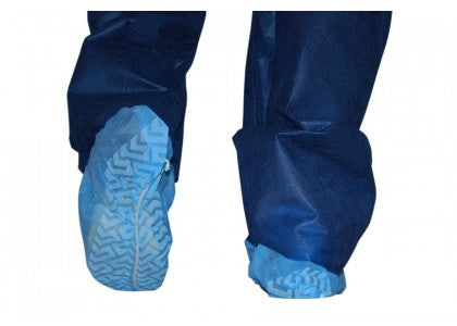 Dukal Shoe Covers, Non-Sterile, Non-Skid, Blue, 100/bx