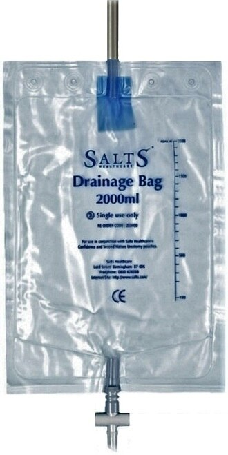 Salts Night Drainage Bag, 2000mL capacity
