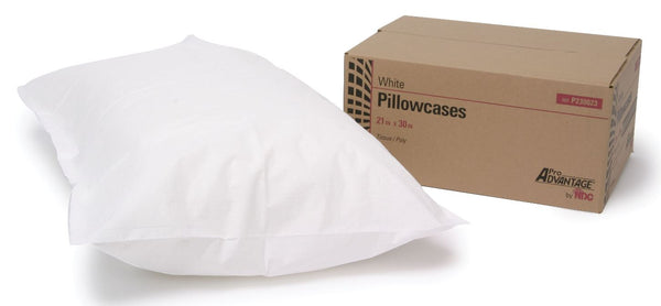 "Pillowcase/Cover, Tissue/ Poly, 21"" x 30"", White, 100/bx"