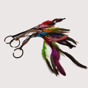 1Pcs/Lot dreadlock Beads Colorful Feather Hair Ring Hair Extension Braids Hairwear Jewelry - Locsanity