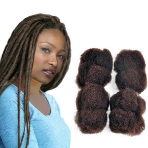 "Afro Kinky 100% Bulk Human Hair For DreadLocks, Loc Repair, Extensions, Twist, Braids  8"" Long"