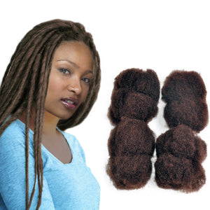 "Afro Kinky 100% Bulk Human Hair For DreadLocks, Loc Repair, Extensions, Twist, Braids  16"" Long - Locsanity"