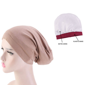 Locsanity Satin Lined Beanie Hat Dreadlocks and Natural Hair Various Colors