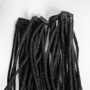 "Clip in 100% Human Hair Dreadlocks Extensions Handmade 10"" Long - Sold 5 or 3 Locs to a Clip"