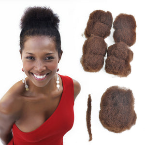 "4 Pack Afro Kinky 100% Bulk Human Hair For DreadLocks, Loc Repair, Extensions, Twist, Braids 8"" Long - Locsanity"