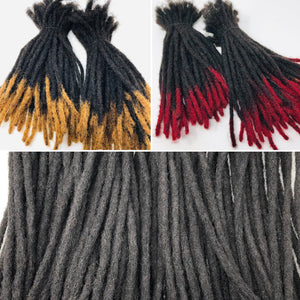 "100% Human Hair Dreadlocks Extensions Medium 1/4"" Width 8"" SOLD 25 IN A BUNDLE"