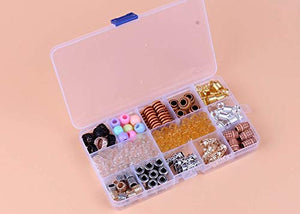 Locsanity 153 Piece w/Storage Box Dreadlocks and Braids Hair Tube Rings for Hair Beads Accessory - Locsanity