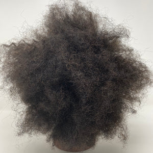 Afro Kinky Training Mannequin Head 100% Human Hair 6""