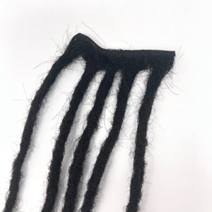 100% Human Hair Dreadlocks Handmade Weft Sew In - Afro Kinky Medium - Locsanity