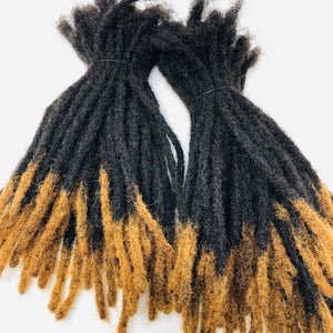 "100% Human Hair Dreadlocks Extensions Handmade Medium 1/4"" Width Pencil Sized Various Lengths With or Without Blonde or Red Tips - 50 LOCS - Locsanity"