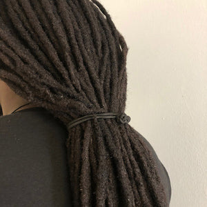 Jumbo Knotted Hair Tie Set of 4 - for natural hair, dreadlocks and thick hair - Locsanity