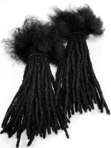 "100% Human Hair Dreadlocks Loose Ended - Afro Kinky Medium 1/4"" 10 Locs - Locsanity"