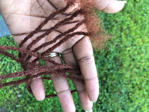 "100% Human Hair Dreadlocks Handmade - 1/8"" Width Micro Sisterlock Medium Single Loc Sample - Locsanity"