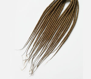 Synthetic Hair Backcombed Handmade Single Ended- Straight Hair - Locsanity