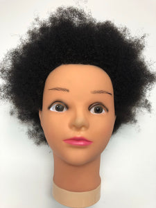"Afro Kinky Training Mannequin Head 100% Human Hair 6"" - Locsanity"