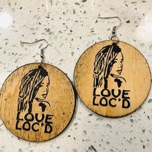 Love Loc'd Real Wooden Stylish Earrings - Locsanity