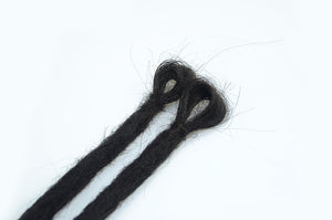 Synthetic Hair Crochet Dreadlocks Handmade Single Ended Medium  - Straight Hair - Locsanity