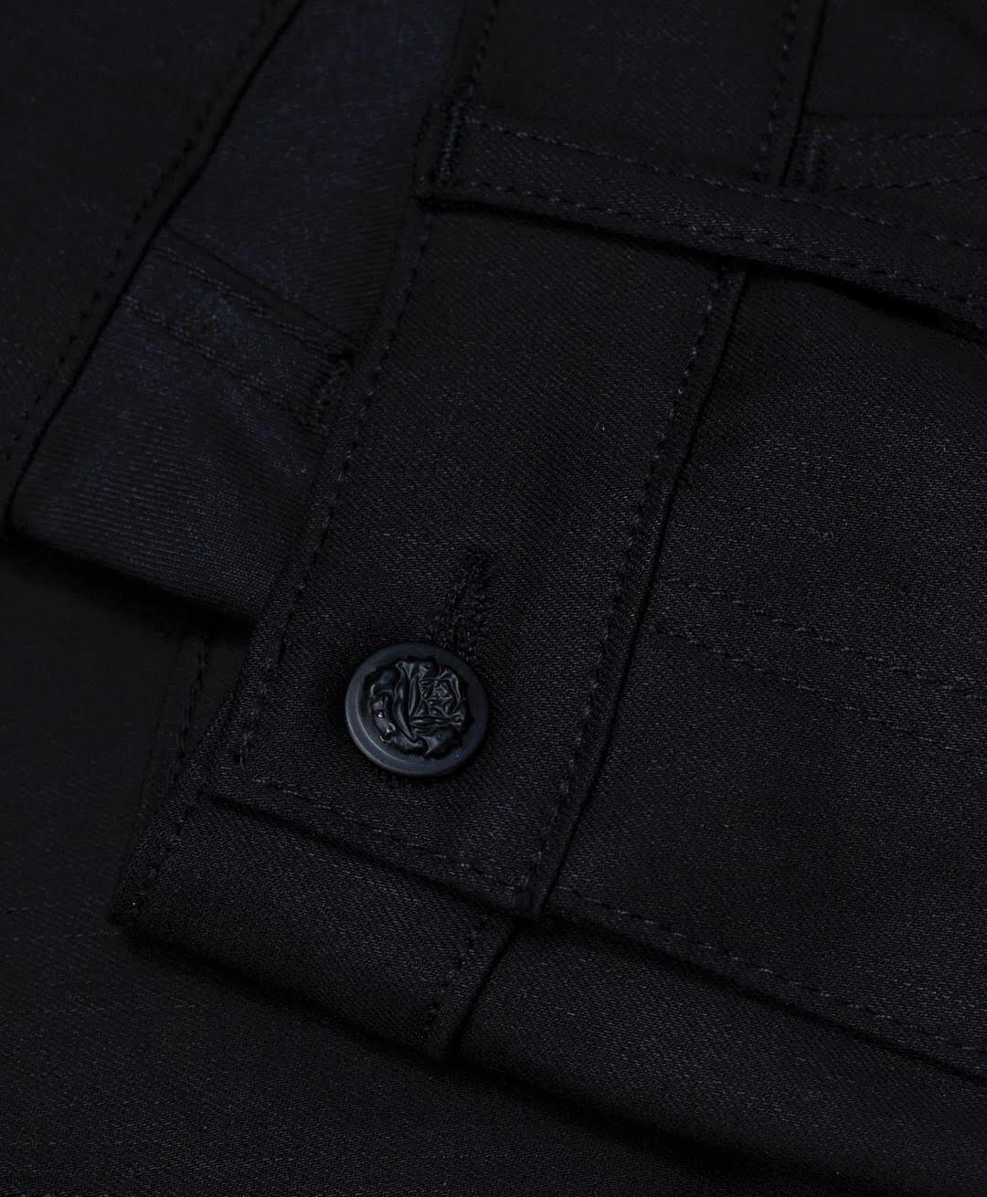 G+R Double Dyed Black TechStrech Raw Denim