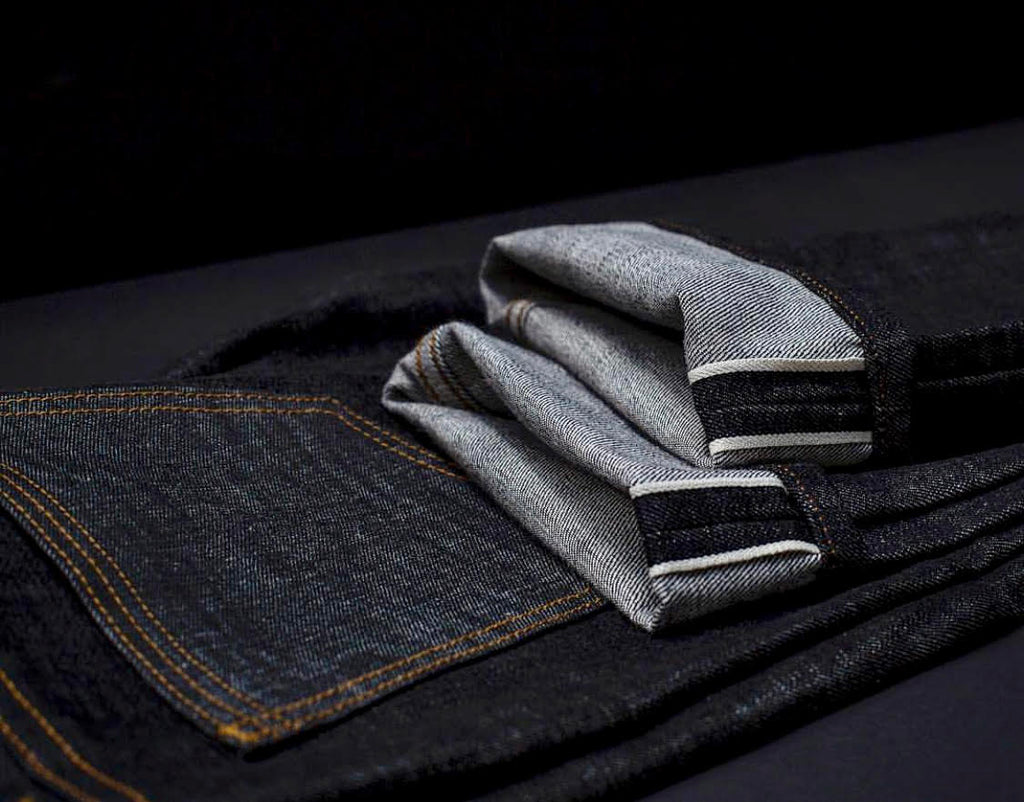 G+R X Cone Mills Black Selvedge Raw Denim