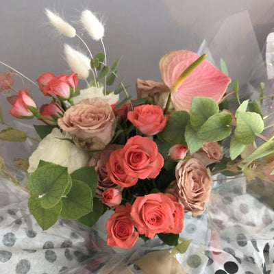 Dusty Rose Mixed Bouquet