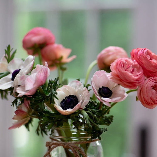 Anemones and Ranunculus Arrangment