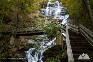 Amicalola Falls in Autumn Stock Photo
