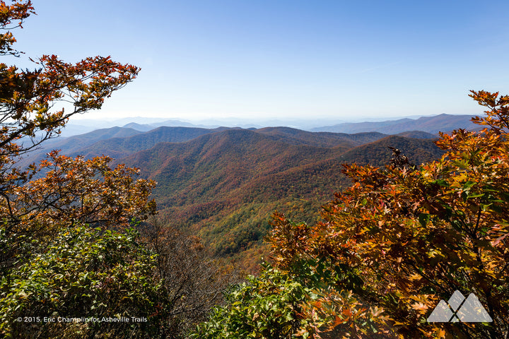 Standing Indian Mountain in Autumn Stock Photo