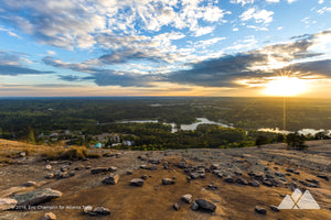 Stone Mountain Summit Sunrise Stock Photo