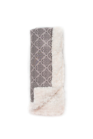 Gray Damask Luxury Blanket
