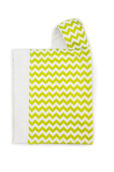 Lime Chevron Snap Hooded Towel