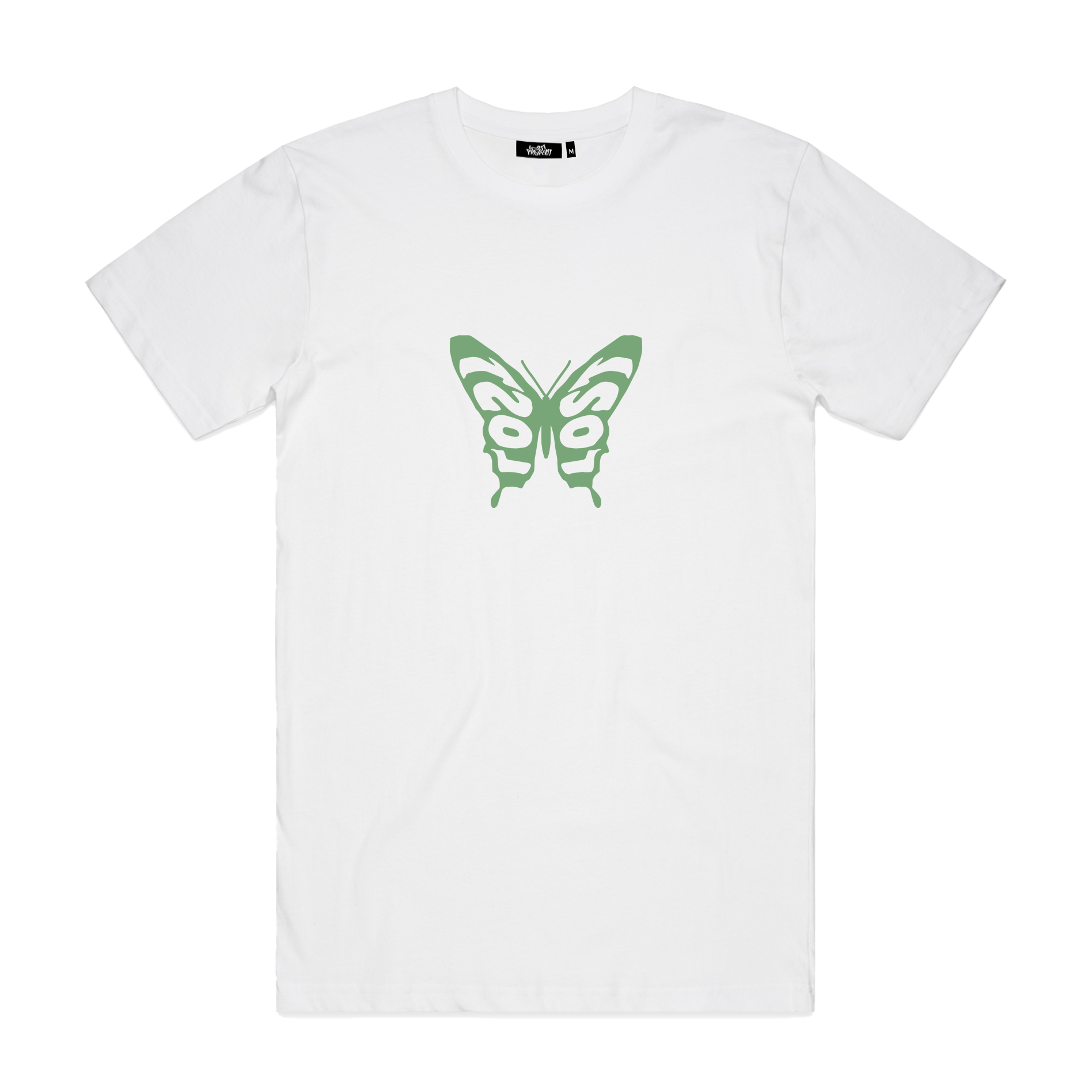 Butterfly: Reimagined Tee - White/Green