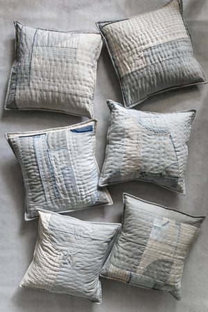 Quilted Remnant Pillow Cover No. 1