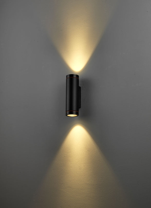 Hunter Outdoor LED Cylinder Wall Light 2x6W
