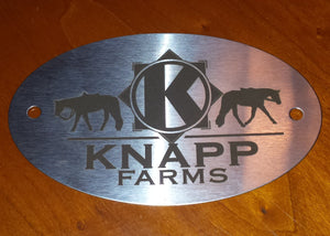 Personalized Name Plate Accessory for the Savvy Feeder. Please email us at TheCreativeHorse@gmail.com to let us know what you would like to have engraved