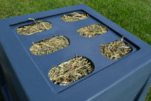 "Load image into Gallery viewer, Replacement Grates - Small, Medium & Large Openings Accessory Savvy Feeder Large: 3.25"" x 6"" size openings for alfalfa and alfalfa mixes some peanut hay and for older horses who have difficulty grasping hay – and for long-stranded hay from a large round bale. Dark Gray"