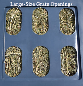 "Replacement Grates - Small, Medium & Large Openings Accessory Savvy Feeder Large: 3.25"" x 6"" size openings for alfalfa and alfalfa mixes some peanut hay and for older horses who have difficulty grasping hay – and for long-stranded hay from a large round bale. Dark Gray"