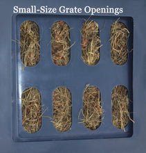 "Load image into Gallery viewer, Replacement Grates - Small, Medium & Large Openings Accessory Savvy Feeder Small: 2.25"" x 5"" size openings for super fine grass hay such as Costal Bermuda Teff hay brome chopped forage and very fine alfalfa and fine hay that is conditioned. Dark Gray"