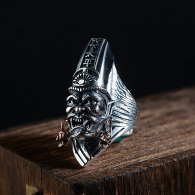 Ring- The Golden Deer S925 Antique Style Peace Ring