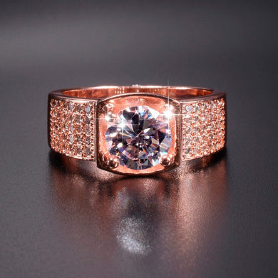 Ring- 925 Silver Rose gold polish Rings for Men