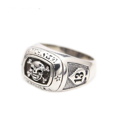 Ring- 925 Sterling Silver Jewelry Skull Rings Pirates of the Caribbean Mens Signet Ring