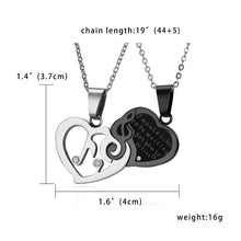 Load image into Gallery viewer, Necklace- Couple Puzzle Heart Necklaces Pendants Musical Note Lovers