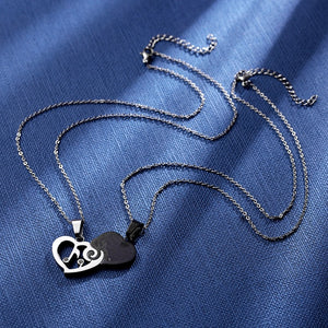 Necklace- Couple Puzzle Heart Necklaces Pendants Musical Note Lovers
