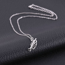 Load image into Gallery viewer, Necklace- Silver Color Musical Instrument Pendant Necklace